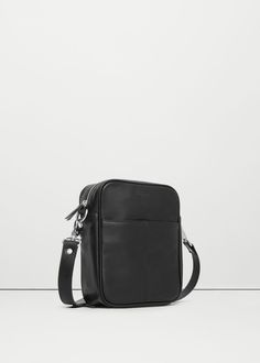 Cross-body pebbled bag - Bags for Man | MANGO Man Saudi Arabia