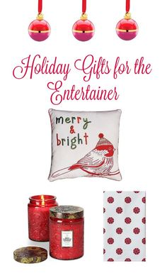 Discover the perfect gifts for the entertainer in your life. From candles and cocktail glasses to chic holiday pillows and tea towels.
