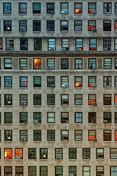 A different story behind every window. NY