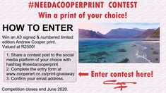 Andrew Cooper, Table Mountain, Garden Painting, Mountain Paintings, Giveaway, Competition, National Parks, Coast, Social Media