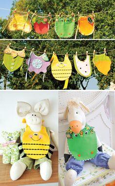 Babadores de patchwork / DIY, Craft, Upcycle