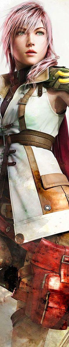 Lightning Farron. Official poster. Final Fantasy XIII.