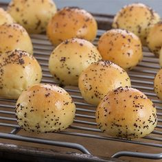 Try this Easy Poppyseed Bagels Bites recipe by Chef Anna Olson. This recipe is from the show Bake With Anna.