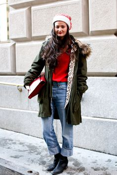 #StreetStyle at #NYFW #Winter style