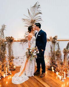 33 Timeless Wedding Altar Decoration Ideas ❤ wedding altar decoration night boho candles #weddingforward #wedding #bride