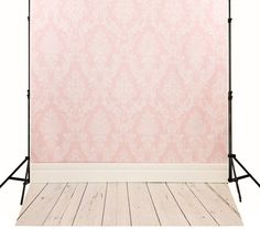 Children Backdrops Photography Wooden Floor Pink by ArtBackground