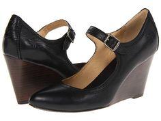 Frye Regina Wedge MJ Black Soft Vintage Leather - Zappos.com Free Shipping BOTH Ways