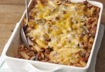 Πέννες στο φούρνο με κιμά, μανιτάρια και τυρί για το καθημερινό, οικογενειακό τραπέζι και όχι μόνο Cookbook Recipes, Pasta Recipes, Cooking Recipes, Penne, Bacon, Calories, Greek Recipes, Freezer Meals