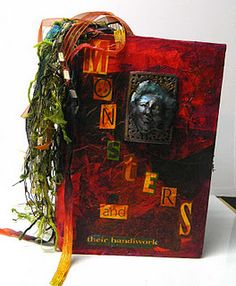 Beautiful altered book cover