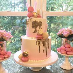 Everything Pretty 's Birthday / Barbie - Photo Gallery at Catch My Party Barbie Party Decorations, Barbie Theme Party, Barbie Birthday Cake, Princess Birthday, Bolo Barbie, Barbie Cake, Barbie Barbie, Barbie House, Barbie Clothes