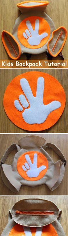 Unusual Creative Kids backpack made of felt or fleece. DIY step-by-step tutorial with pictures. http://www.handmadiya.com/2015/09/kids-backpack-tutorial.html