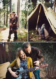 Such an intimate feel. Outdoor engagement