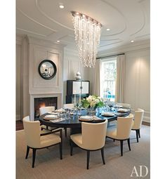 oval dinning table and chairs