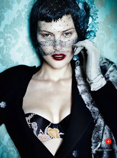visual optimism; fashion editorials, shows, campaigns & more!: prima donna: catherine mcneil by mario testino for uk vogue september 2013