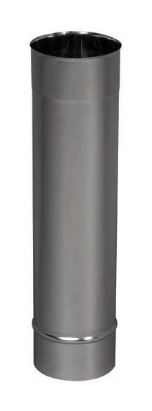 Tube rigide inox 304 En Longueur de 0,50 m Voir Diamètre FUMISTERIE