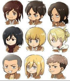Ok the fact that Annie is the only looking at someone and that someone is Armin makes me very pleased
