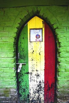 Small little colourful doors and walls tells a lots of stories of the inhabitant.