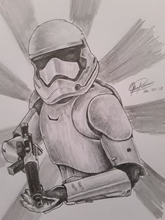 Graphite Pencil drawing of a Storm trooper from Star Wars. - Star Wars Stormtroopers - Ideas of Star Wars Stormtroopers - Graphite Pencil drawing of a Storm trooper from Star Wars. Star Wars Drawings, Art Drawings Sketches, Disney Drawings, Cool Drawings, Pencil Drawings, Star Wars Jedi, Star Wars Art, Collage Foto, Storm Wallpaper