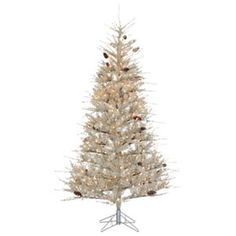 Sterling 7' Pre-Lit Sage Frosted Artificial Christmas Tree with Clear Lights