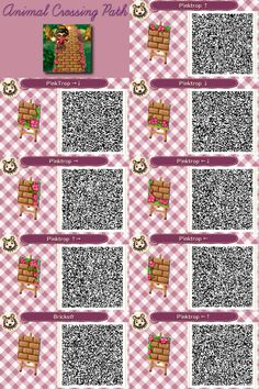 Animal Crossing: New Leaf & HHD QR Code Paths trapped-in-the-metaverse: Animal Crossing New Leaf Path - Bricks with Tropical Flowers Full Size Link<br> Qr Code Animal Crossing, Animal Crossing Qr Codes Clothes, Path Design, Leaf Design, Acnl Qr Code Sol, Acnl Pfade, Acnl Paths, Motif Acnl, Ac New Leaf