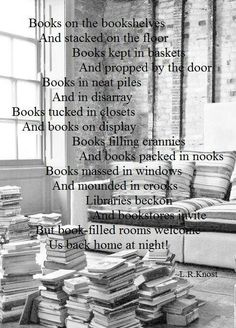 Books and more books! Never enough!
