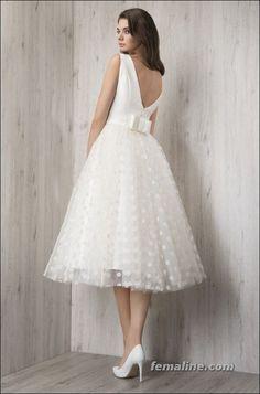 6e843b81ac4 111 elegant tea length wedding dresses vintage (89)