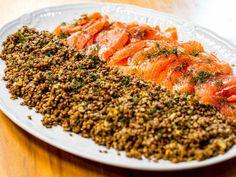 Marinado de salmão com lentilhas puy da Carolina Ferraz