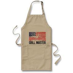 c228d6004970 Distressed American flag BBQ apron