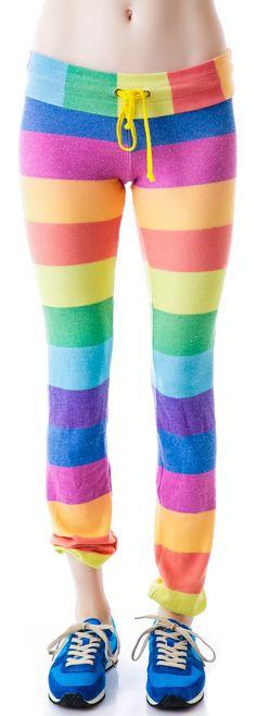 Wildfox Couture 70's Rainbow Malibu Skinny Sweats | Dolls Kill