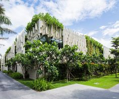 Lush living plants engulf the green-roofed Pure Spa in Vietnam | Inhabitat - Sustainable Design Innovation, Eco Architecture, Green Building