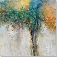 Mountain Laural Hand Painted Art at Art.com