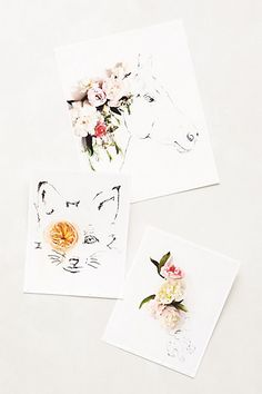 Botanical Animal Prints at Anthropologie, $38.00