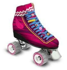 Luna Pink Roller Skates, Roller Derby, Disney Channel, Roller Skating Rink, Skate Photos, Chelsea, Son Luna, Things That Bounce, Baby Strollers