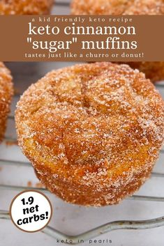 Keto cinnamon sugar muffins from Keto in Pearls taste just like your favorite churro or donut. Of course, they're 100% sugar-free, gluten-free, and grain-free making them perfect for your keto breakfasts. They are also perfect as meal prep and freezer-friendly muffins. This easy keto muffin recipe is sure to be a new family favorite breakfast idea! #cinnamon #cinnamonsugar #ketomuffins #lowcarbmuffins #ketobreakfastrecipes #sugarfree #ketobreakfast #muffins Low Carb Desserts, Low Carb Recipes, Dessert Recipes, Dessert Bread, Steak Recipes, Easy Dinner Recipes, Free Recipes, Soup Recipes, Easy Meals