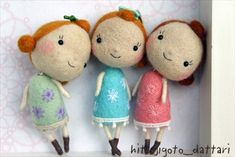 Needle felted girls :)
