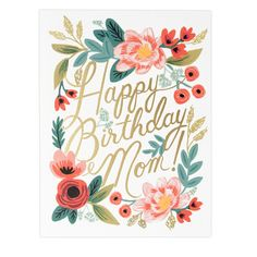 Make Mom feel super special on her birthday with some thoughtful and loving words written inside this beautifully illustrated card. Blank inside for your own personal message. Measures: 5.5 x 4.25 inc