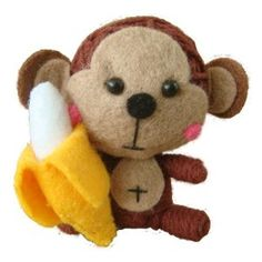 String Voodoo Doll Keychain Cutie Monkey Babe Baby Animal Series From Thailand Free Shipping