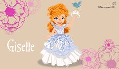 Giselle, from the movie Enchanted, a little princess. I know it's not a Disney Princess and she's part of the Non-Official Princess classification but . No-Disney Young Princess ~ Giselle Disney Pixar, Walt Disney, Disney Films, Disney Fan Art, Disney And Dreamworks, Disney Love, Disney Magic, Disney Characters, Disney Stuff