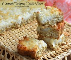 Coconut Oatmeal Cookies Bars - Will Cook For Smiles
