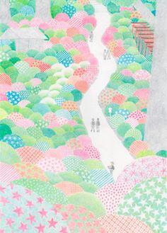 Affiche Illustration Printemps Fleurs Japon - Doi Kaori