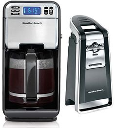 Hamilton Beach 76606Z Smooth Touch Electric Can Opener  46201 LCD Coffee Maker *** You can find out more details at the link of the image.  This link participates in Amazon Service LLC Associates Program, a program designed to let participant earn advertising fees by advertising and linking to Amazon.com.