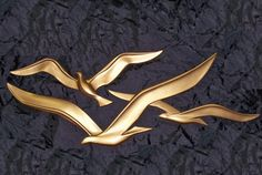 Brass seagulls....that will soon be painted white.