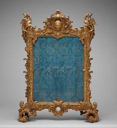 Fire screen, ca. 1736–40. German, Würzberg. The Metropolitan Museum of Art, New York. Gift of Louis J. Boury, 1935 (35.23.1, .2)
