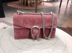 Gucci blush velvet leather bag