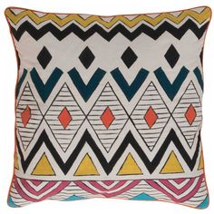 Hand Painted Amarillo Cushion Cover
