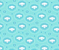 Dots meet Elephant fabric by nossisel on Spoonflower - custom fabric