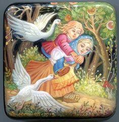 """Сказка """"Гуси-лебеди"""" http://russkaja-skazka.ru/gusi-lebedi/ Девочка сидит ни жива ни мертва, плачет, а мышка ей опять: — Не дожидайся, бери братца, беги, а я за тебя кудель попряду. Девочка взяла братца и побежала. Баба-яга баню вытопила и пошла за девочкой. А в избушке нет никого. Баба-яга закричала: — Гуси-лебеди! Летите в погоню! Сестра братца унесла!.. #сказки #картинки #ГусиЛебеди #art #Russia #Россия #добро #дети #иллюстрации #paint #картины #художник #RussianFairyTales @russkajaskazka"""