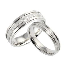 Stainless Steel Pearl Sand Couple Rings Set for Engagement, Promise, Eternity R013 (His Size 7,8,9,10; Hers Size 5,6,7,8). Please Email Sizes Eeva' jewelry,http://www.amazon.com/dp/B008NOG1DK/ref=cm_sw_r_pi_dp_9xj3rb1053SBN3CC