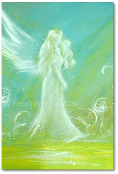 "Limited angel art photo ""you give me power"" , modern angel painting, artwork, perfect also for picture frame. €10.00, via Etsy."