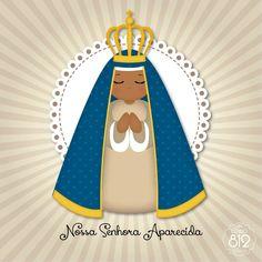 Nossa Senhora Aparecida Holy Art, Blessed Virgin Mary, Arte Popular, Blessed Mother, Mother Mary, Sacred Art, Dear God, Faith In God, Religious Art